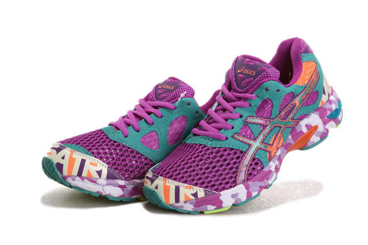 Women's Asics Gel Noosa Tri 7 Dark Sea Green Dark Orchid Orange